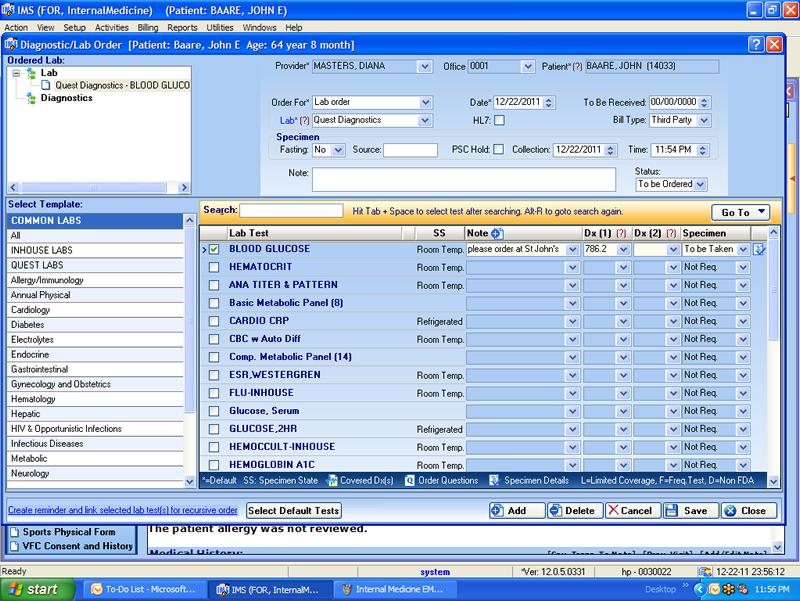 Internal Medicine Electronic Medical Records Software